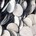 Sequins, Silver colour, 29mm, 22 pieces, 5g, Oval, Sequins are shiny, [CZP685]